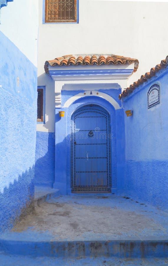 Η μπλε πόλη - Chefchaouen, Μαρόκο στοκ εικόνες