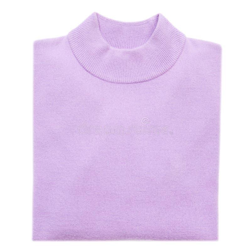η μπλούζα δίπλωσε την πλεκτή γυναίκα στοκ φωτογραφία με δικαίωμα ελεύθερης χρήσης