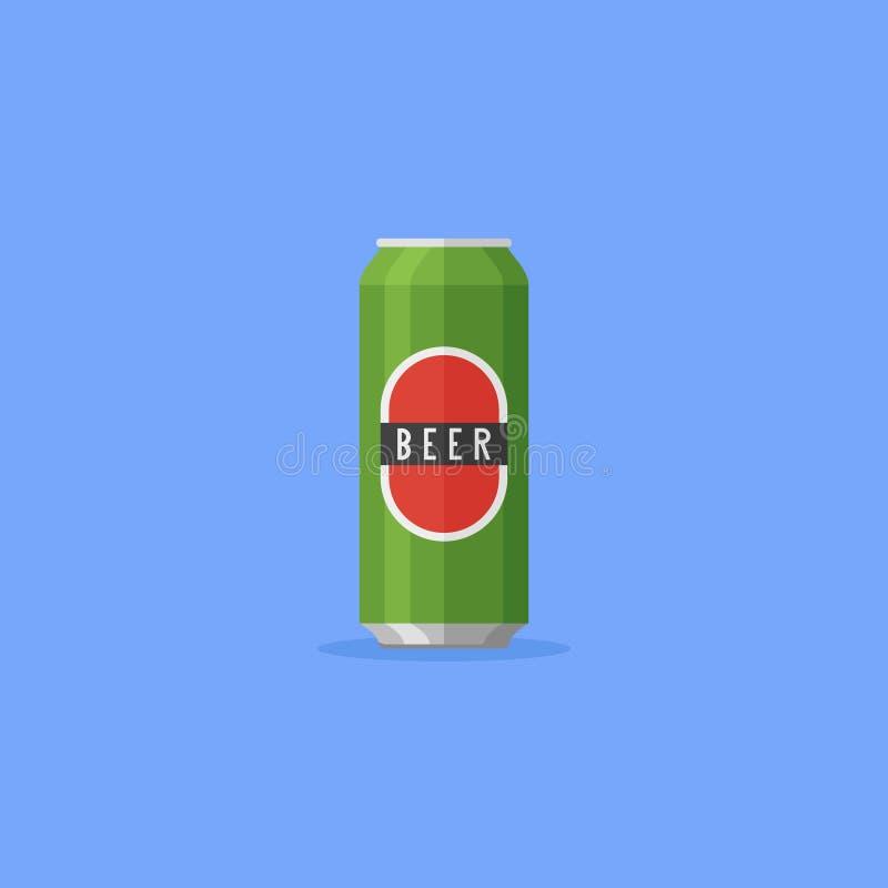 Η μπύρα αργιλίου μπορεί οριζόντια να ορίσει το εικονίδιο επίσης corel σύρετε το διάνυσμα απεικόνισης διανυσματική απεικόνιση