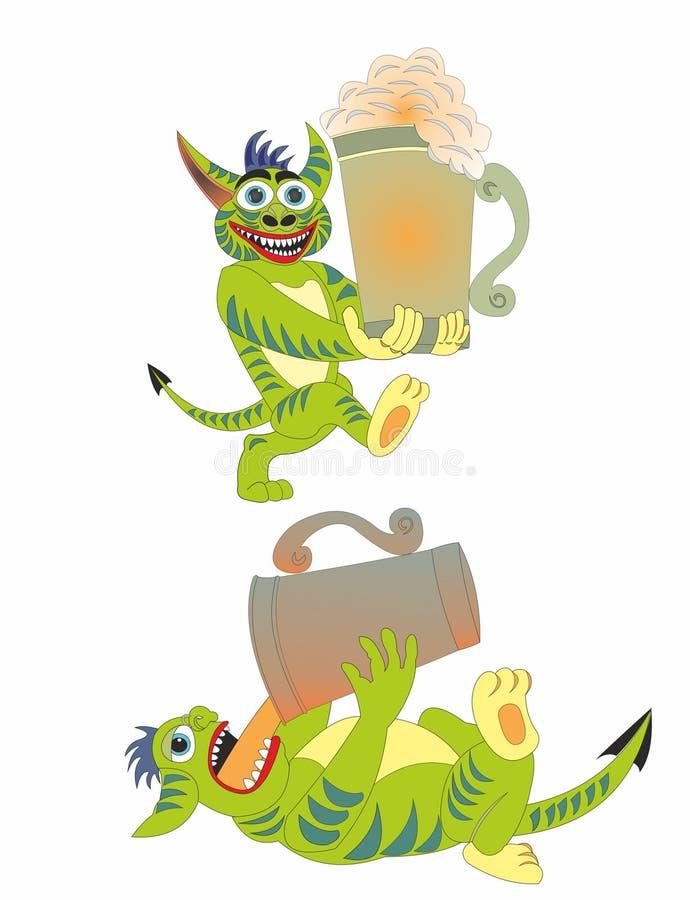Η μπύρα είναι εύθυμο ποτό διανυσματική απεικόνιση