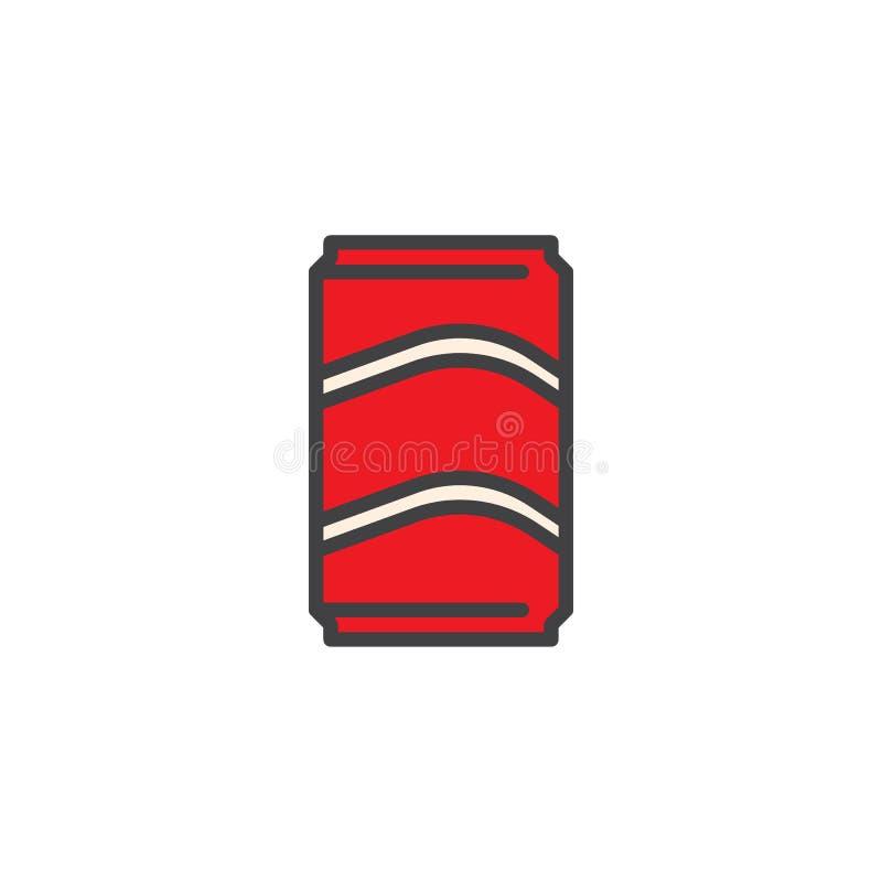 Η μπύρα μπορεί γεμισμένος να περιγράψει το εικονίδιο διανυσματική απεικόνιση