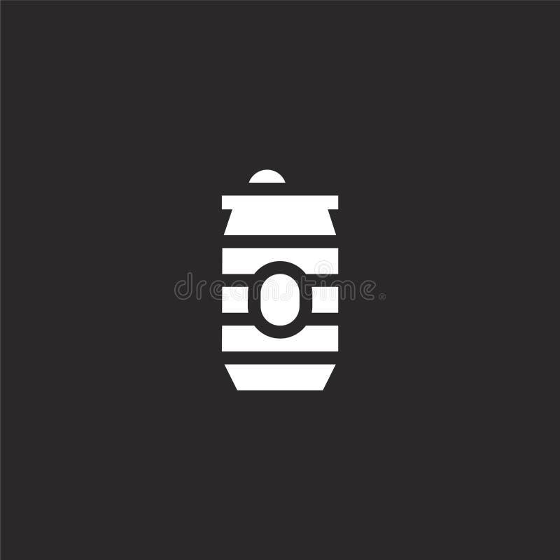 η μπύρα μπορεί εικονίδιο Η γεμισμένη μπύρα μπορεί εικονίδιο για το σχέδιο ιστοχώρου και κινητός, app ανάπτυξη η μπύρα μπορεί εικο απεικόνιση αποθεμάτων