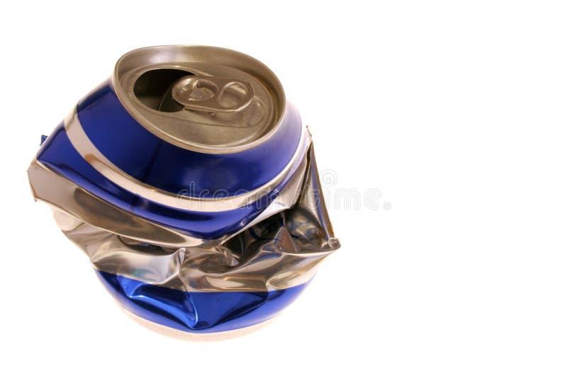 η μπύρα μπορεί συντριμμένος στοκ φωτογραφία με δικαίωμα ελεύθερης χρήσης