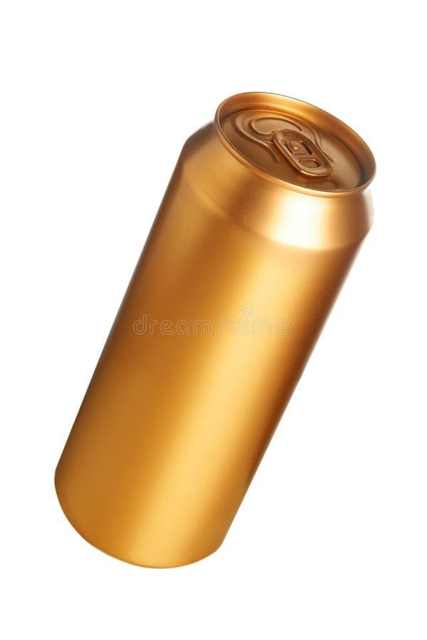 η μπύρα μπορεί χρυσός στοκ εικόνα με δικαίωμα ελεύθερης χρήσης