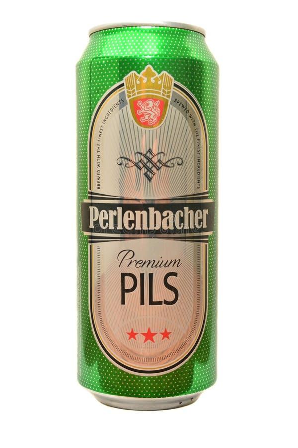 Η μπύρα Perlenbacher μπορεί στοκ φωτογραφία με δικαίωμα ελεύθερης χρήσης