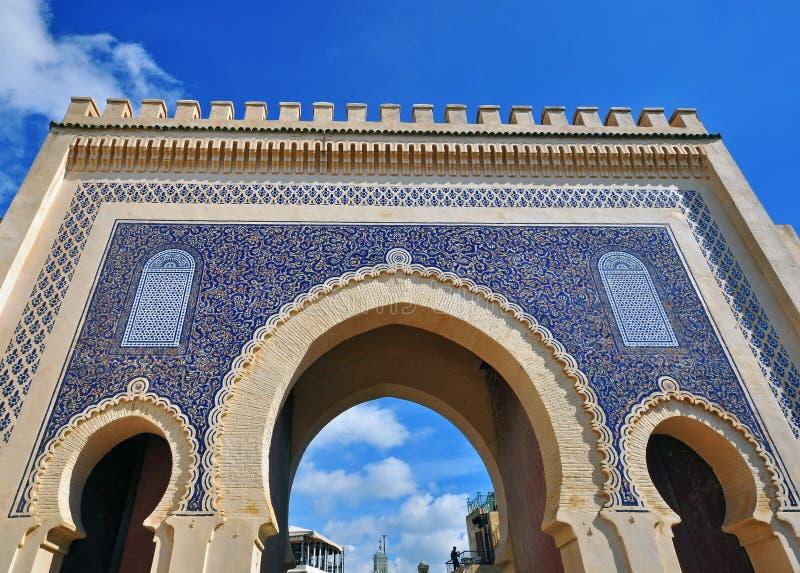 Η μπλε πύλη, Fes στοκ εικόνες