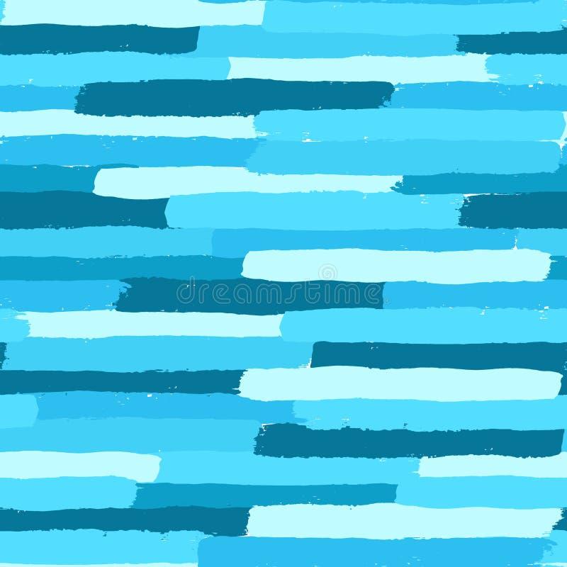 Η μπλε χρωματισμένη βούρτσα κτυπά το σχέδιο απεικόνιση αποθεμάτων