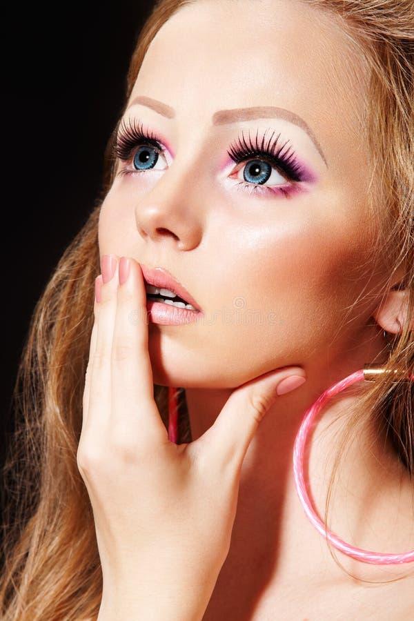 η μόδα κουκλών eyelashes μακροχρόν& στοκ εικόνες με δικαίωμα ελεύθερης χρήσης