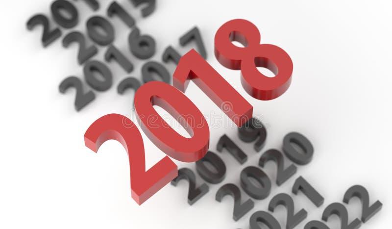 Η νέα έγκαιρη γραμμή έτους του 2018 απεικόνιση αποθεμάτων