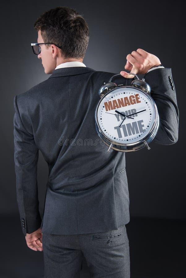 Η νέα έννοια χρονικής σημασίας επιχειρηματιών στοκ εικόνες