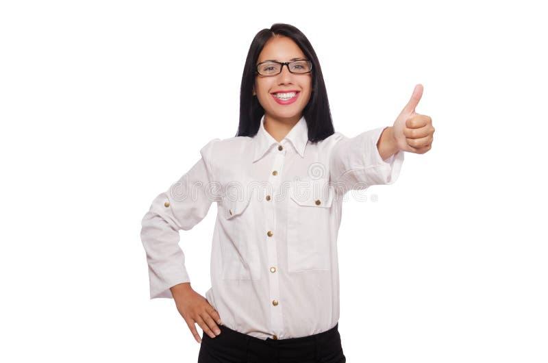Η νέα γυναίκα στην επιχειρησιακή έννοια στοκ φωτογραφία με δικαίωμα ελεύθερης χρήσης