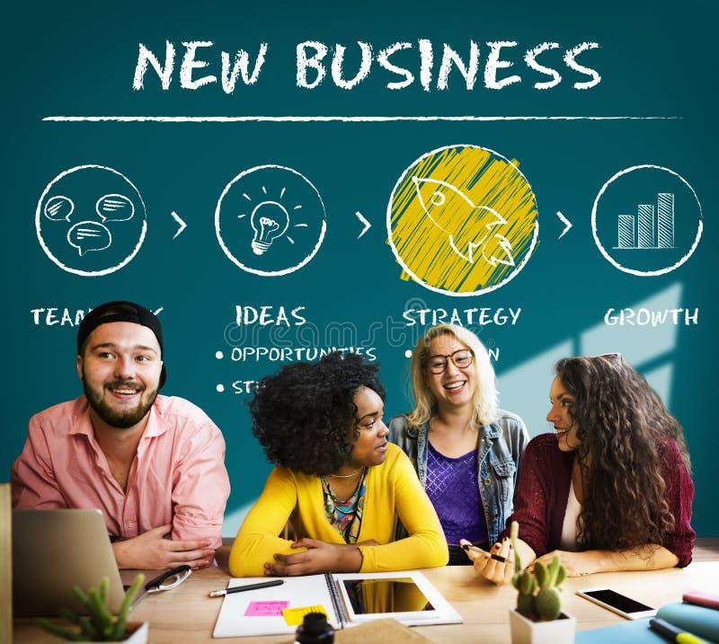 Η νέα επιχείρηση αρχίζει την έννοια επιτυχίας αύξησης έναρξης στοκ εικόνες