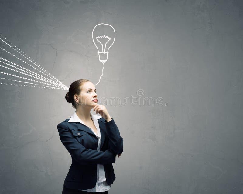 Η νέα επιχειρηματίας έχει μια ιδέα στοκ φωτογραφία