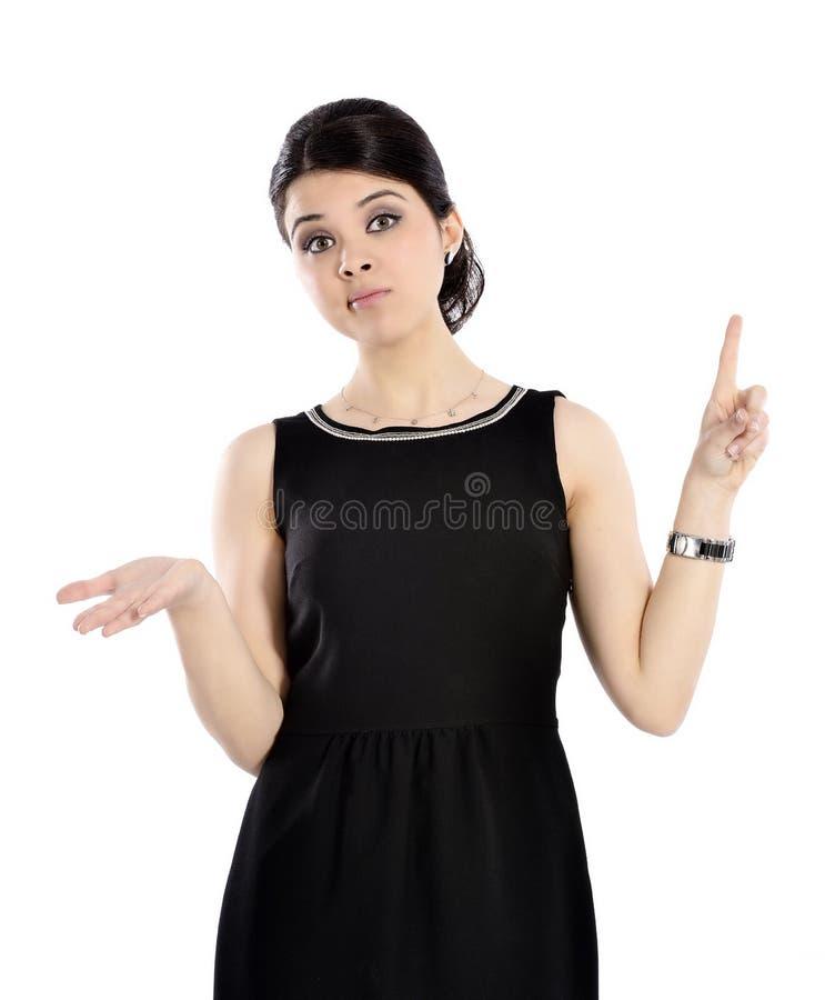 Η νέα επιχειρησιακή γυναίκα εκφράζει τον κλονισμό. στοκ φωτογραφίες με δικαίωμα ελεύθερης χρήσης
