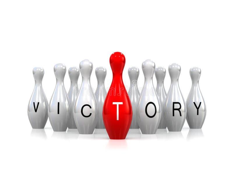 Η νίκη, έννοια επιτυχίας επιχειρησιακής ηγεσίας, αρχηγός ομάδας, ηγέτης ομάδας, αριθμός ξεχωρίζει από το πλήθος, νεοσύλλεκτος εργ διανυσματική απεικόνιση