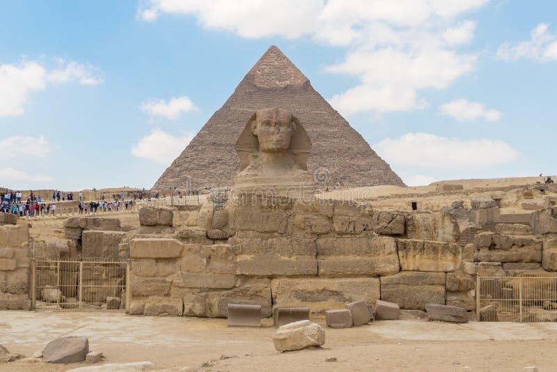 Η νεκρόπολη του Khafre pharaoh με το Sphinx στην Αίγυπτο στοκ φωτογραφίες