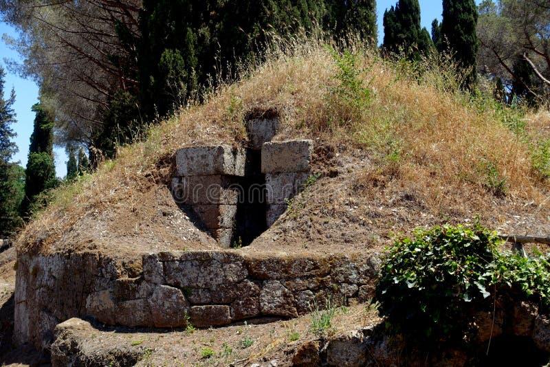 Η νεκρόπολη Etruscan Cerveteri στοκ φωτογραφίες