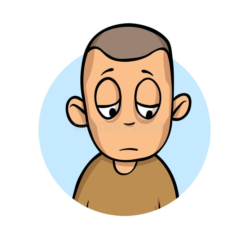 Η νεολαία που υφίσταται το λυπημένο άτομο είναι άρρωστη Πείνα, ασθένεια, απώλεια βάρους Επίπεδη διανυσματική απεικόνιση η ανασκόπ ελεύθερη απεικόνιση δικαιώματος