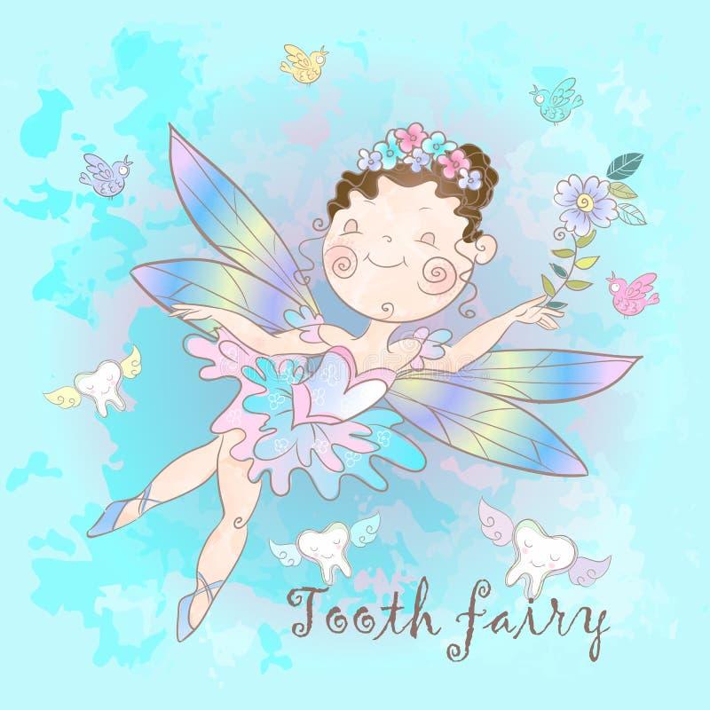 Η νεράιδα δοντιών είναι μυθικό πλάσμα Ύφος της Νίκαιας Δόντια Οδοντιατρική r ελεύθερη απεικόνιση δικαιώματος