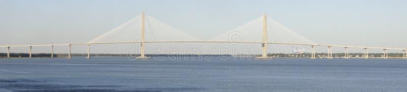 Η νεώτερη γέφυρα αρθούρου Ravenel στοκ φωτογραφία