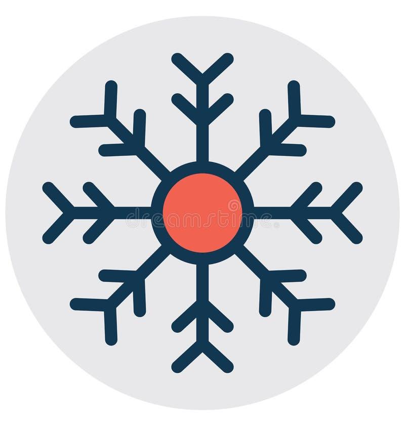 Η νιφάδα Χριστουγέννων, νιφάδα κρυστάλλου απομόνωσε το διανυσματικό εικονίδιο που μπορεί εύκολα να τροποποιήσει ή να εκδώσει ελεύθερη απεικόνιση δικαιώματος