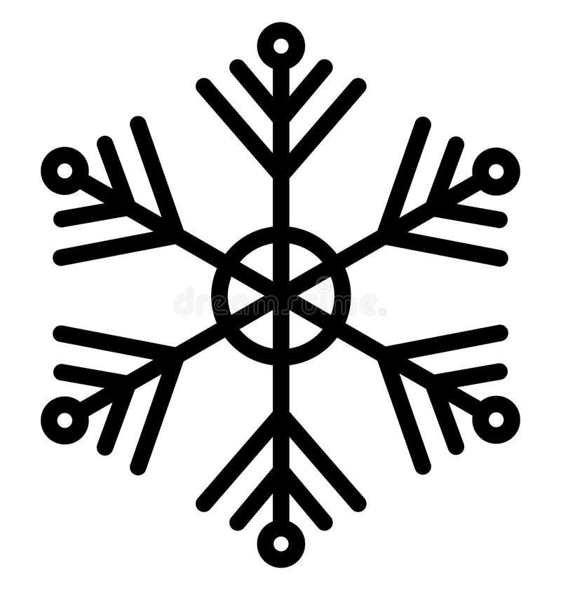 Η νιφάδα Χριστουγέννων, νιφάδα κρυστάλλου απομόνωσε το διανυσματικό εικονίδιο που μπορεί να τροποποιηθεί εύκολα ή να εκδοθεί ελεύθερη απεικόνιση δικαιώματος
