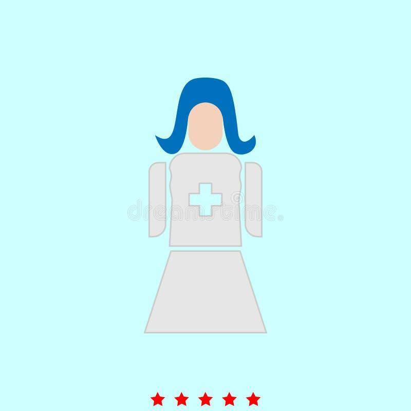 Η νοσοκόμα αυτό είναι εικονίδιο απεικόνιση αποθεμάτων