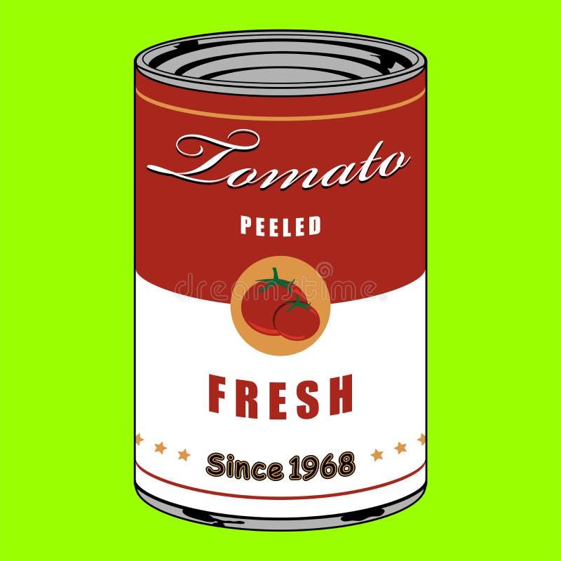 Η ντομάτα μπορεί διανυσματική απεικόνιση