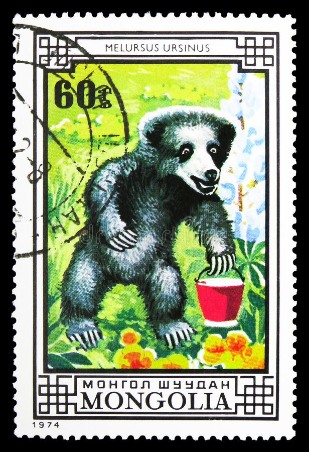 Η νωθρότητα αντέχει (ursinus Melursus), αντέχει serie, circa το 1974 στοκ εικόνες με δικαίωμα ελεύθερης χρήσης