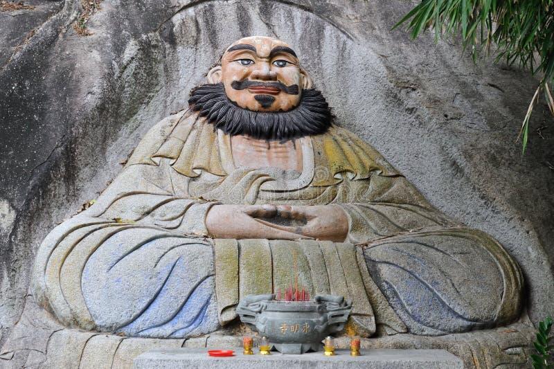 Η νωπογραφία κινεζικού Dongmingsi στοκ φωτογραφία