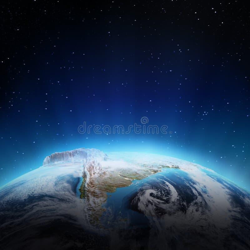 Η Νότια Αμερική ανάβει τη νύχτα διανυσματική απεικόνιση