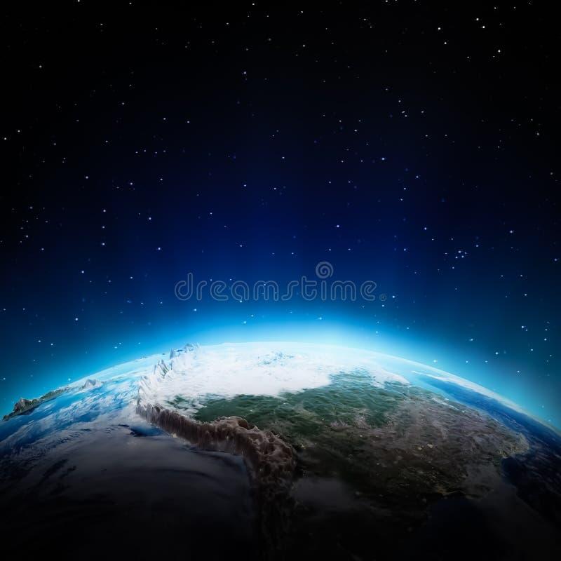Η Νότια Αμερική ανάβει τη νύχτα απεικόνιση αποθεμάτων