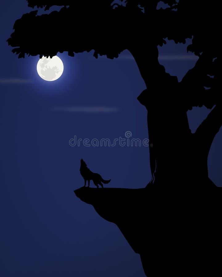 Η νύχτα λύκων στοκ φωτογραφία με δικαίωμα ελεύθερης χρήσης