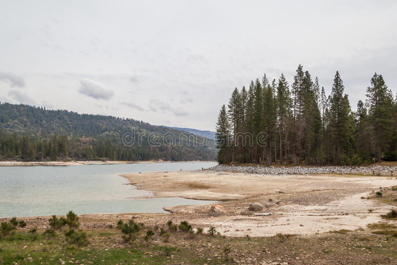 Η ξεραίνοντας λίμνη στοκ φωτογραφίες με δικαίωμα ελεύθερης χρήσης