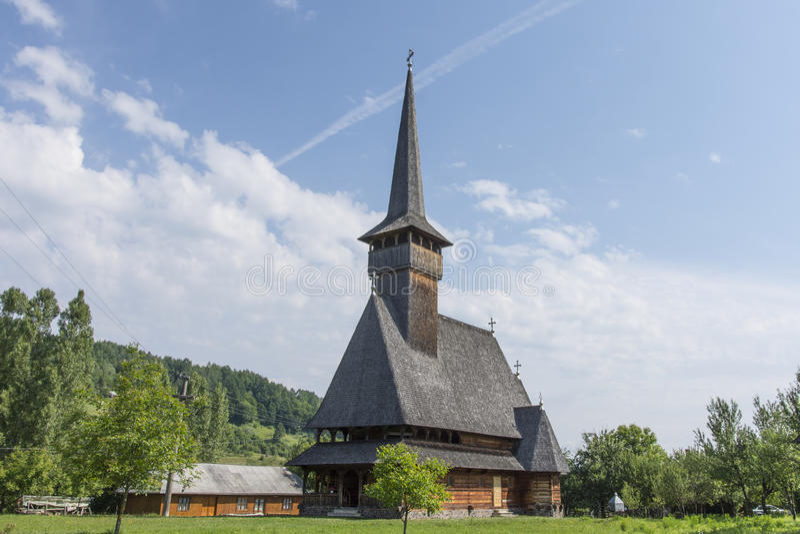 Η ξύλινη εκκλησία Ieud στη Ρουμανία στοκ φωτογραφίες