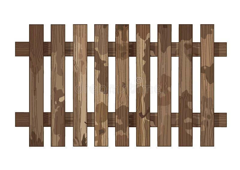 Η ξύλινη σύσταση φρακτών και οι ξύλινες σανίδες τοίχων υποβάθρου σύστασης φρακτών ανοικτό καφέ splat φωτεινές κάθετες επιβιβάζοντ διανυσματική απεικόνιση
