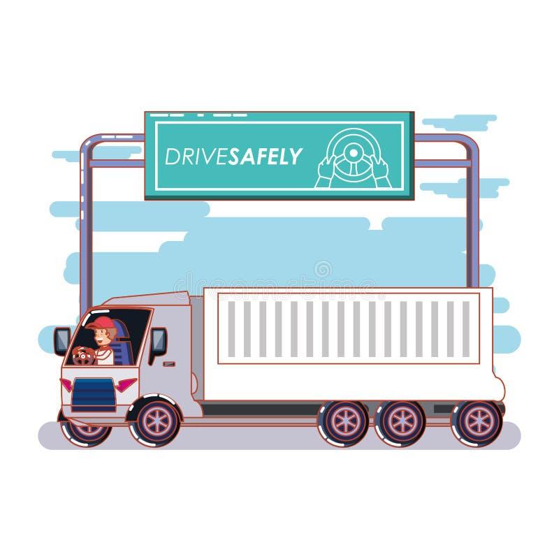 Η οδήγηση προσώπων για τον οδηγό κάνει εκστρατεία ακίνδυνα ελεύθερη απεικόνιση δικαιώματος