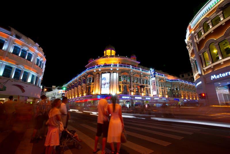 η οδική όψη νύχτας της Κίνας zho στοκ εικόνα