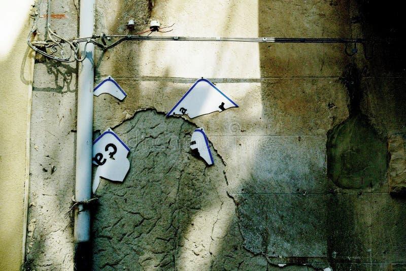 Η οδός Cavour καταστρέφει σε έναν πυροβολισμό του πυροβόλου όπλου στοκ φωτογραφία με δικαίωμα ελεύθερης χρήσης