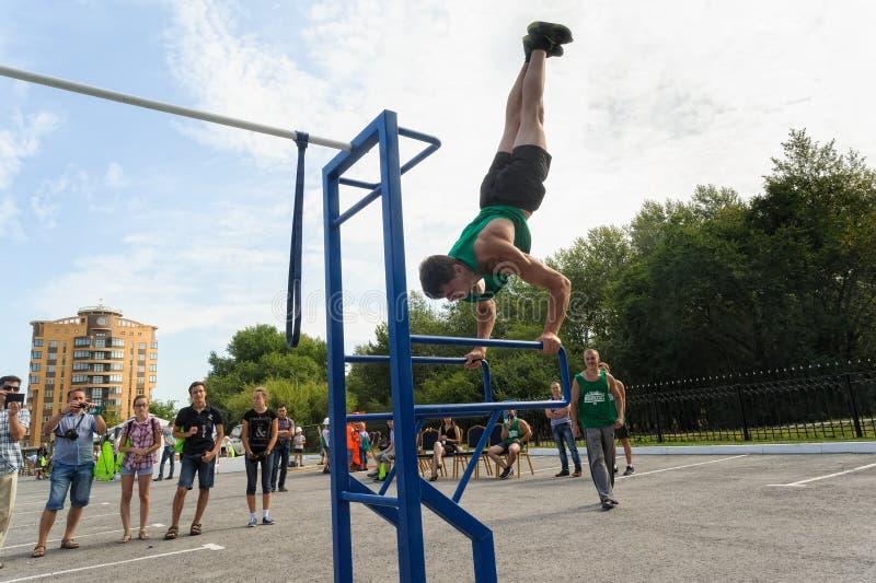 Η οδός workout παρουσιάζει Tyumen Ρωσία στοκ εικόνες με δικαίωμα ελεύθερης χρήσης