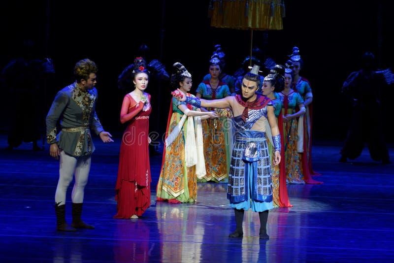 Η οικογένεια η αγάπη-τέσσερα πράξη ` εμπόδισε τον εκτελωνισμό ` - επική πριγκήπισσα ` μεταξιού δράματος ` χορού στοκ εικόνες με δικαίωμα ελεύθερης χρήσης