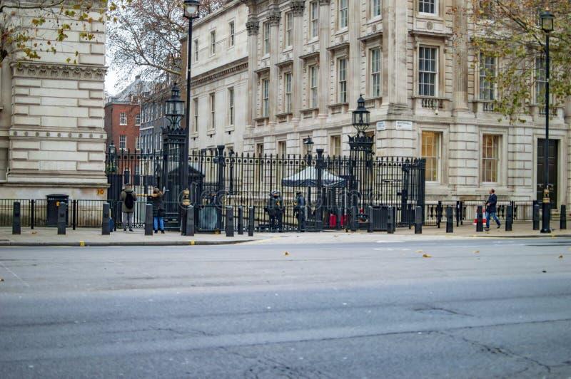 Η οικοδόμηση του Γουάιτχωλ στο κατέβασμα της οδού Λονδίνο στοκ εικόνες