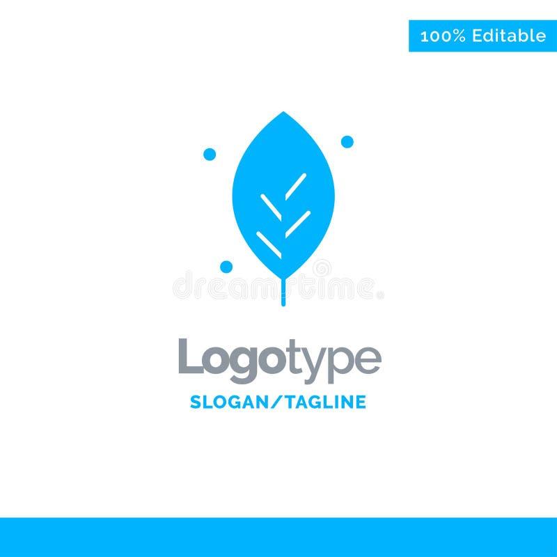 Η οικολογία, φύλλο, φύση, αναπηδά το μπλε στερεό πρότυπο λογότυπων r διανυσματική απεικόνιση