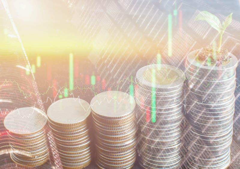 Η οικονομικές επιχείρηση και η χρηματαγορά Χρηματιστήριο στοκ φωτογραφία