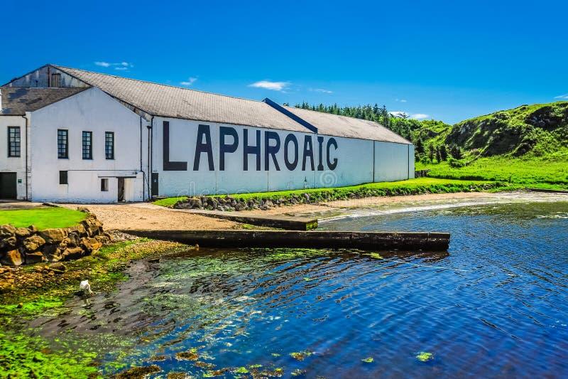 Η οινοπνευματοποιία Laphroaig στοκ φωτογραφίες με δικαίωμα ελεύθερης χρήσης