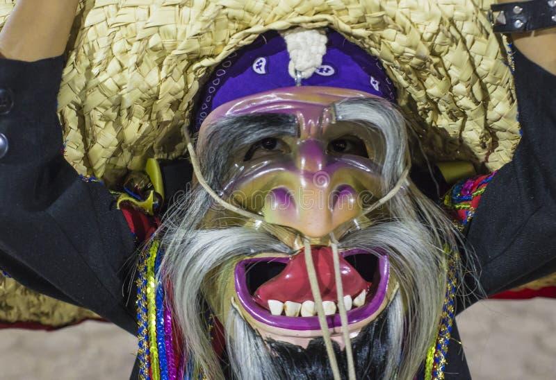 Η ομάδα χορού Tecuanes, σε αυτό το χορό, οι φυλές Chichimeca και Zapotec ενώνουν τις δυνάμεις τους για να νικήσουν την τίγρη ή τε στοκ εικόνα με δικαίωμα ελεύθερης χρήσης