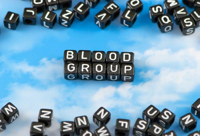 Η ομάδα αίματος λέξης στοκ φωτογραφίες