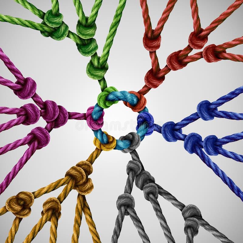 Η ομάδα ομαδοποιεί το δίκτυο διανυσματική απεικόνιση