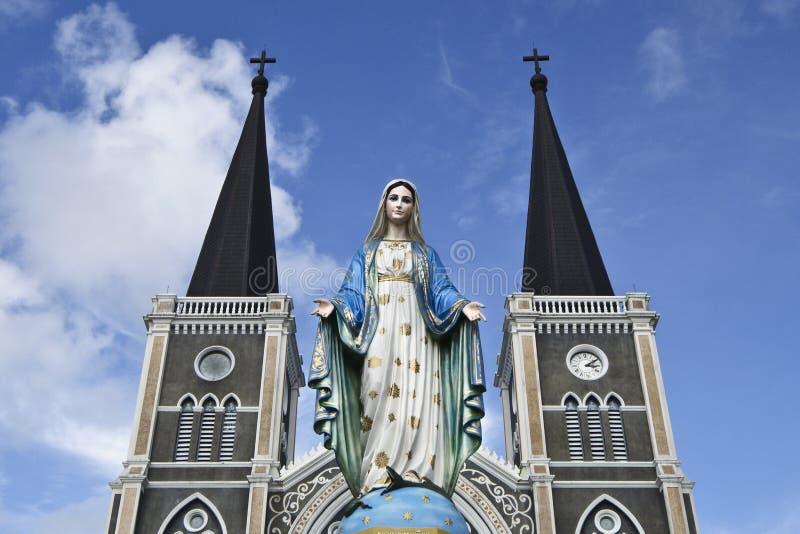 Η ομορφότερη καθολική εκκλησία, δημόσιες σχέσεις Chanthaburi στοκ φωτογραφία με δικαίωμα ελεύθερης χρήσης