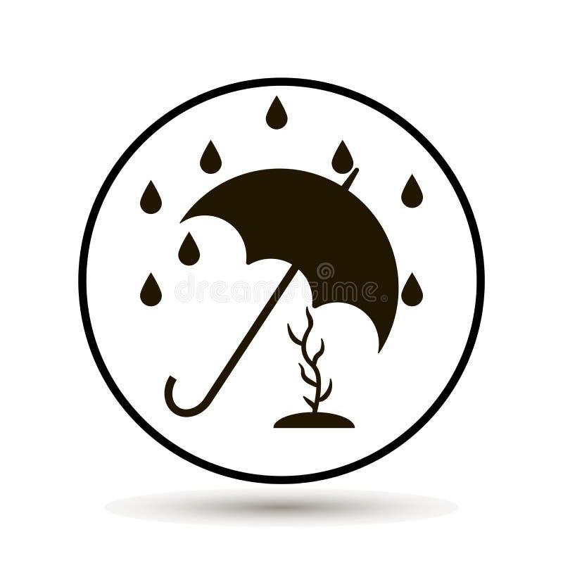 Η ομπρέλα προστατεύει τις εγκαταστάσεις από τη βροχή απεικόνιση αποθεμάτων